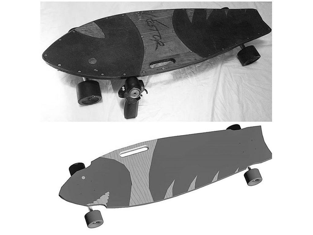 nestor garcia Electric Skate modulable n3dstor l bn